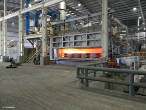 New furnace at Constellium's Muscle Shoals facility