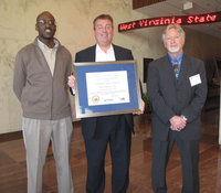 Constellium representatives holding Ravenswood' Excellence in Industrial Energy Efficiency Award
